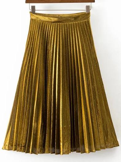 gold-pleats